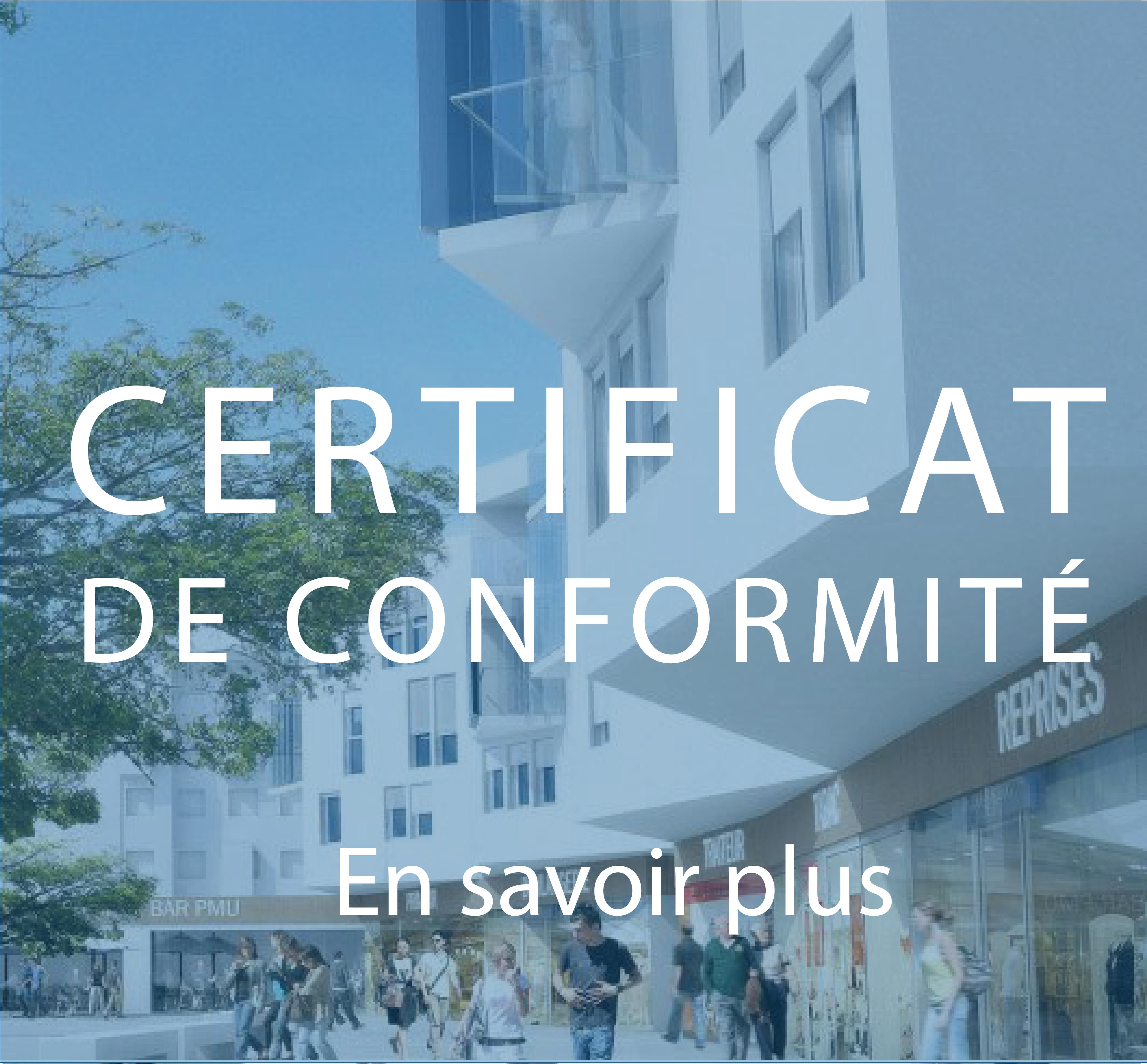 Certificat de conformité